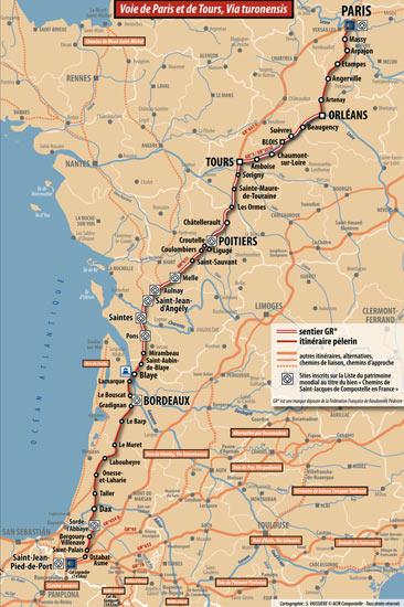 carte voie de Tours