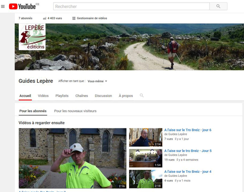 Youtube guides Lepere