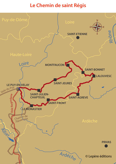 carte chemin st-regis